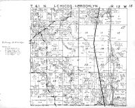 Chicog Township - East, Brooklyn Township - North, Washburn County 1952